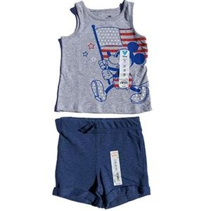 Disney Matching Sets - NWT Disney Jumping Beans 18 Months USA Flag Outfit